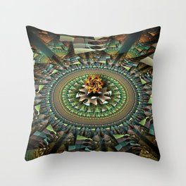 Magic movement of patterns Throw Pillow