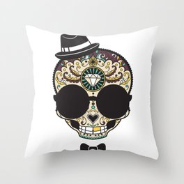 Blind Sugar Skull Throw Pillow