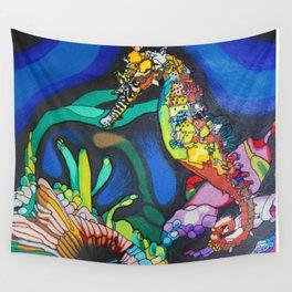 Rainbow Seahorse Wall Tapestry