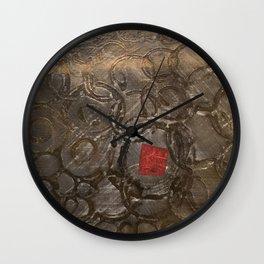 perplexed gold Wall Clock