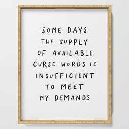 Curse Words Serving Tray