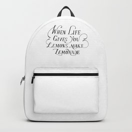 Lemons quote Backpack