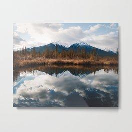 Vermillion Lakes II Metal Print