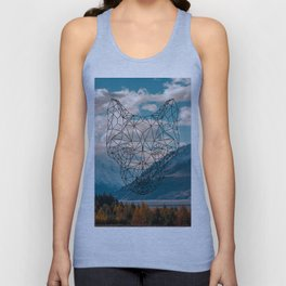 Wolf nature mountain Unisex Tank Top