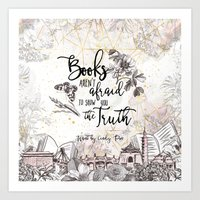 Want - Books Aren't Afraid Art Print
