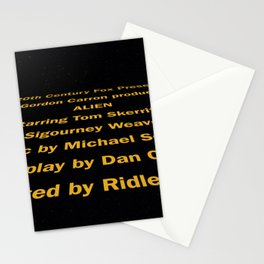 Alien cast & crew Stationery Cards