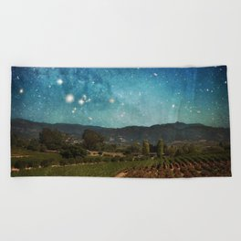 Starlit Vineyard II Beach Towel