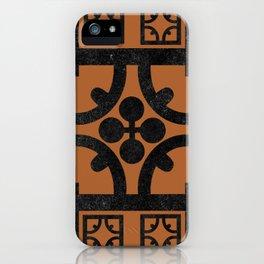 Terracotta English half-timbered Tudor house pattern iPhone Case