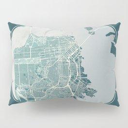 San Francisco Map Planet Pillow Sham