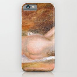 Pierre-Auguste Renoir - Nude Woman Lying - Digital Remastered Edition iPhone Case