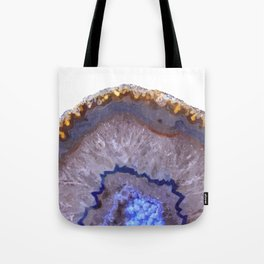 Druze dark blue agate Tote Bag