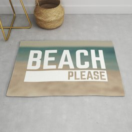 Beach Please Funny Quote Rug