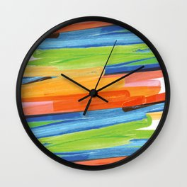 Color yellow red blue green Wall Clock