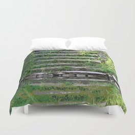 River stairs Duvet Cover