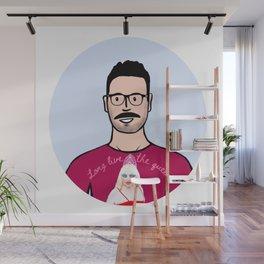 Beard Boy: Long Live The Queen Wall Mural