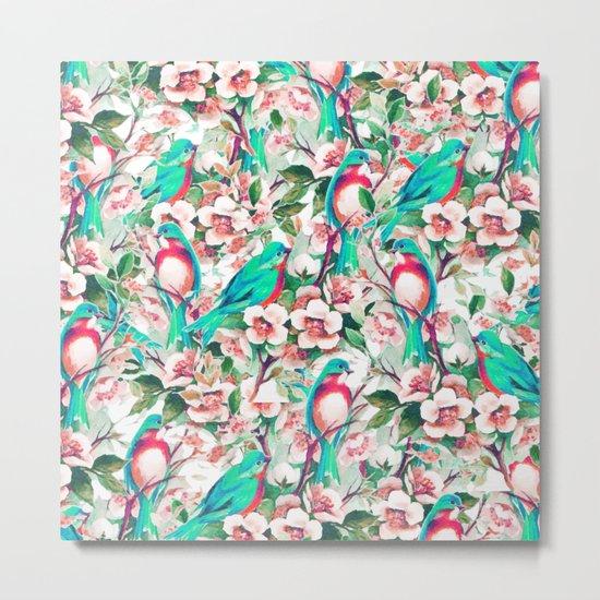 Birds & Flowers #society6 #decor #buyart Metal Print