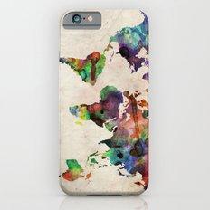 World Map Urban Watercolor iPhone 6 Slim Case