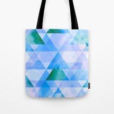 Blue & Purple Triangle Geometric Design Tote Bag