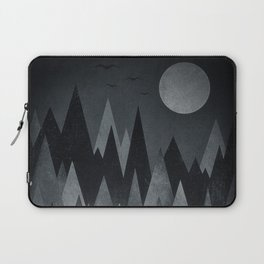 Dark Mystery Abstract Geometric Triangle Peak Wood's (black & white) Laptop Sleeve
