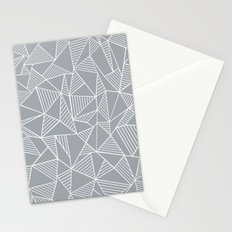 Abstraction Lines Grey Stationery Cards