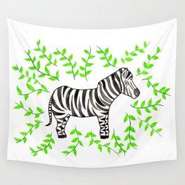 Watercolor Art   Zebra Wall Tapestry