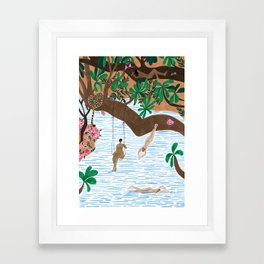 The Jungle Beach Framed Art Print