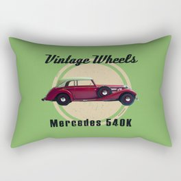 Vintage Wheels - Benz 540K Rectangular Pillow