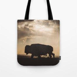 Bison in the Storm - Badlands National Park Tote Bag