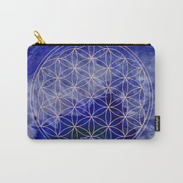 indigo agate with rose gold flower of life Carry-All Pouch