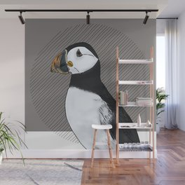 FEATHER FEST - PUFFIN Wall Mural