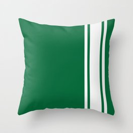 Green Racer Throw Pillow