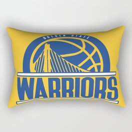 Warriors vintage basketball logo Rectangular Pillow