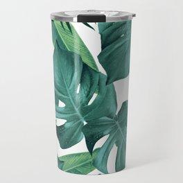 Tropical Summer Jungle Leaves Dream #2 #tropical #decor #art #society6 Travel Mug