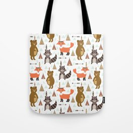 Bohemian orange brown forest animal arrows tribal pattern Tote Bag