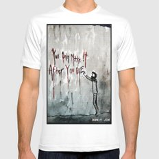 You Only Make It After You Die White SMALL Mens Fitted Tee