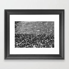 Stone Beach Framed Art Print