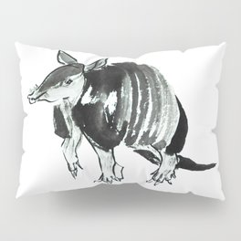 Nine-banded armadillo painted in traditional sumie technique Pillow Sham