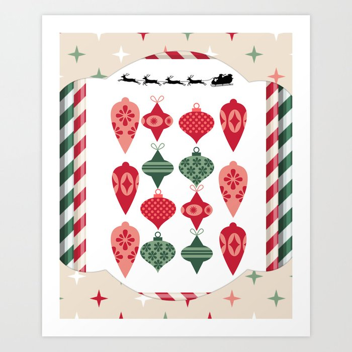 Framed Ornaments Art Print