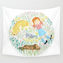 Summer Afternoon With Dogs, Cats And Clouds Wall Tapestry
