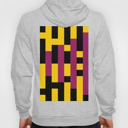 A lot of rectangles, all put in a way that it seems it is a 3d thing, but it's 2d, purple carpet. Hoody