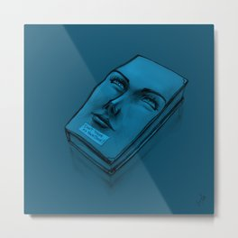 Don't Touch my Face Book - Cian Metal Print