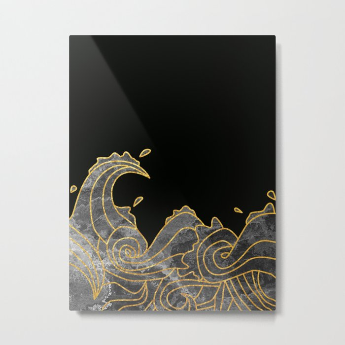 Abstract Wave 2 Metal Print