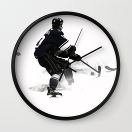 The Deke - Hockey Player Wall Clock