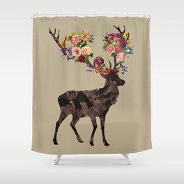 Spring Itself Deer Flower Floral Tshirt Floral Print Gift Shower Curtain