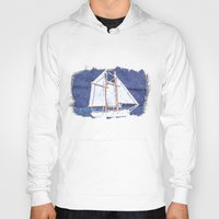 sailboat Hoodies featuring Sailboat by Michael P. Moriarty