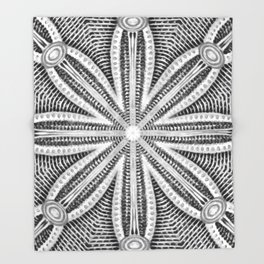 Black-and-White Abstract 15 Throw Blanket
