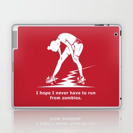 Running from Zombies Laptop & iPad Skin