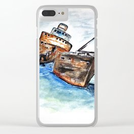 Wrecked Shipper Clear iPhone Case