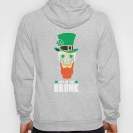 St Patricks Day Sugar Skull Top Hat Day Of The Drunk Hoody