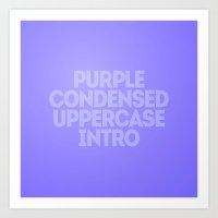 MetaType Purple Art Print